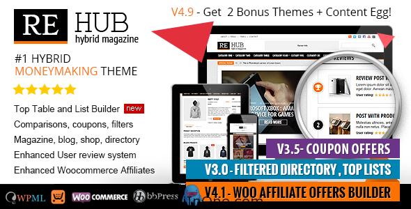 REHub WordPress Theme - Directory, Shop, Coupon, Affiliate Theme(Latest)(Free Download)(MultiInOne.com)